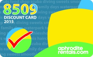 Make some great savings with our 8509 Discount Card!
