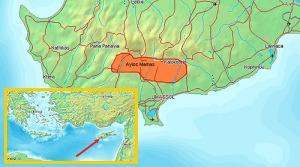 The 14 villages that compose the Commandaria wine-producing area include Ayios Yeorgios, Ayios Constantinos, Ayios Mamas, Ayios Pavlos, Apsiou, Yerasa, Doros, Zoopiyi, Kalo Chorio, Kapilio, Lania, Louvaras, Monagri and Sylikou.