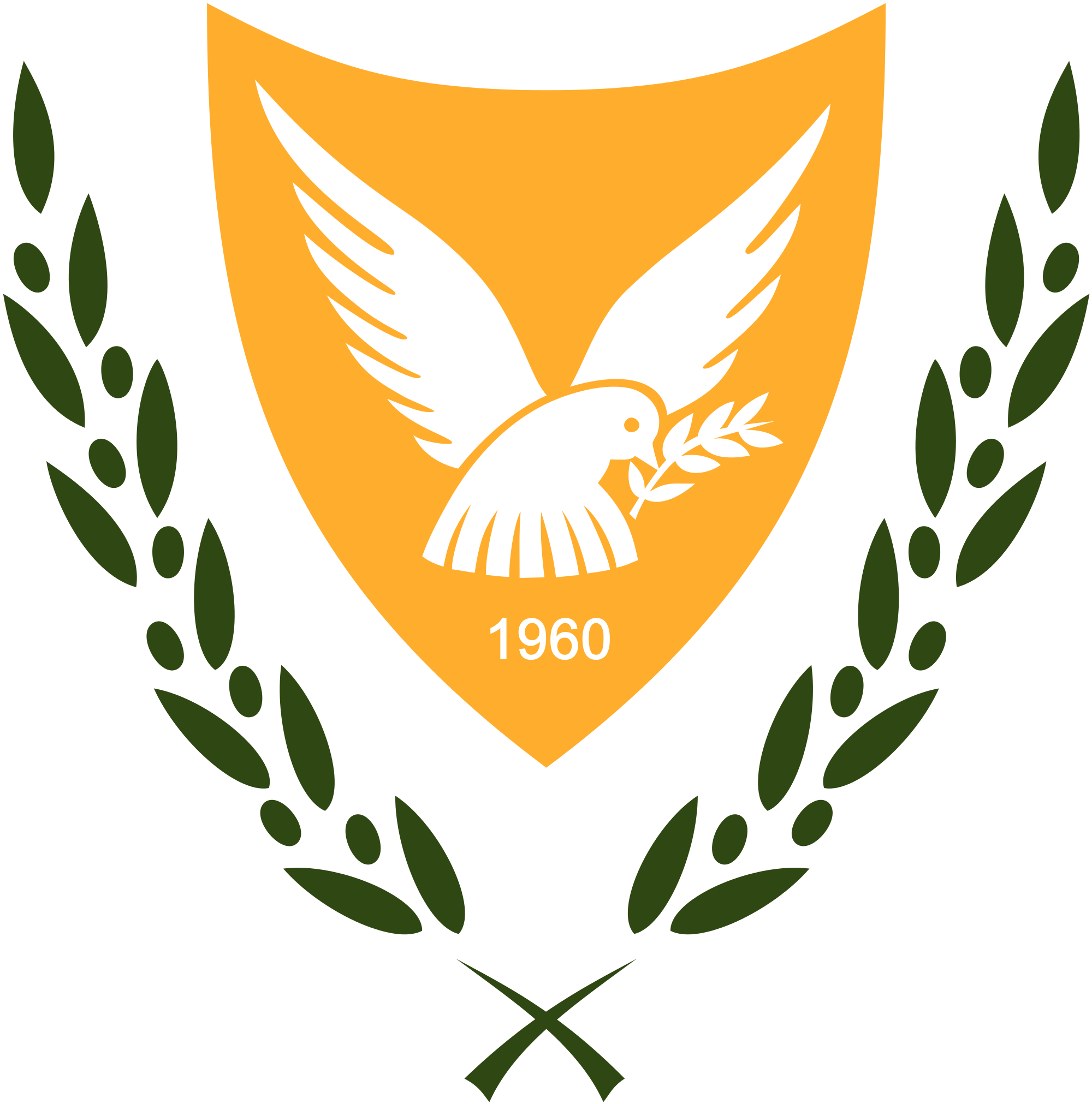 Fridays fact about the history of the republic of cyprus flag as well as the flag the republic of cyprus also has a national emblem or coat of arms it displays a crest of green olive tree leaves surrounding a biocorpaavc Image collections