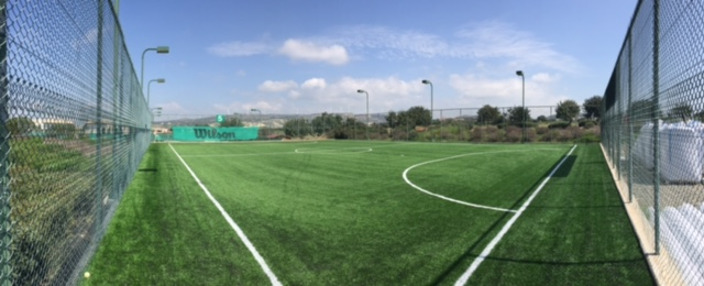 Pop along and take a look at the new 3G football pitch, next to the tennis academy