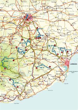 Cyprus Rally map 2015