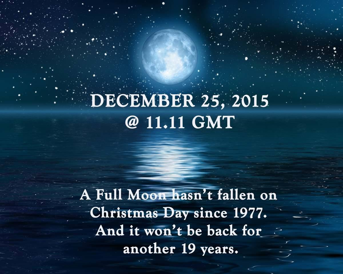 First full moon on Christmas day for 38 years… | aphroditerentals8509