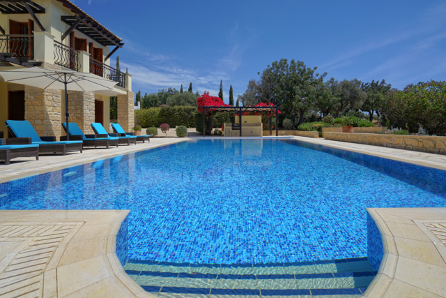 The pool at Villa Galinios, Aphrodite Hills Resort, Cyprus